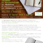 L'istinto di narrare - Workshop di scrittura narrativa per insegnanti