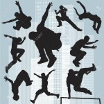 9739633-set-silhouettes-parkour-Stock-Vector-parkour-silhouette-jumping